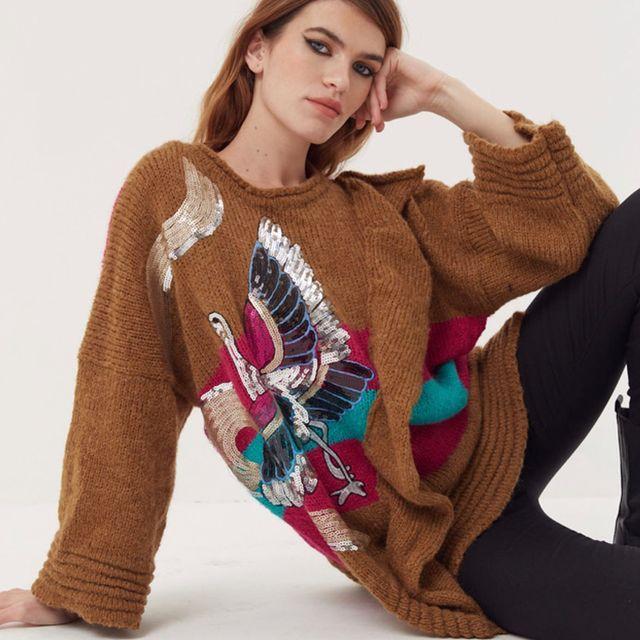 buzo lana tejido juvenil Agustina Saquer invierno 2021