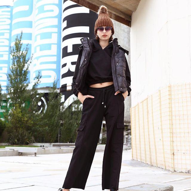 buzo top y pantalon cargo algodon invierno 2021 union good