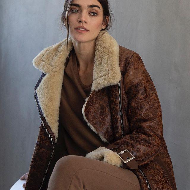 campera de cuero con abrigo invierno 2021 Boken