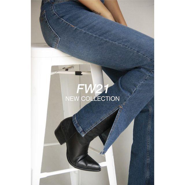 jeans con tajo Riffle Jeans invierno 2021