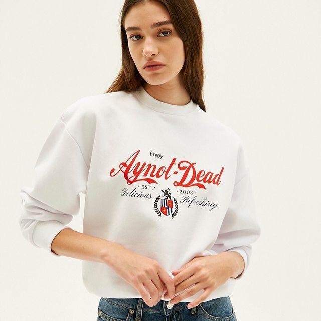 jeans y buzo de algodon Ay not dead juveniles para mujer invierno 2021