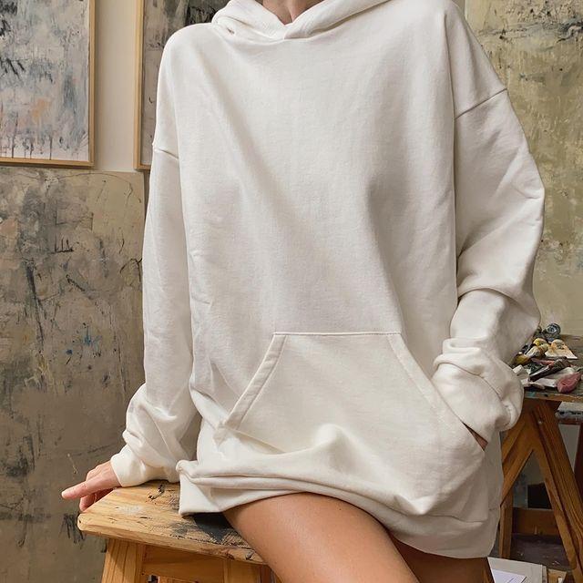 maxi buzo capucha mujer Piccola basicos de moda invierno 2021