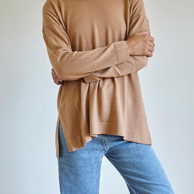 sweater holgado Piccola basicos de moda invierno 2021