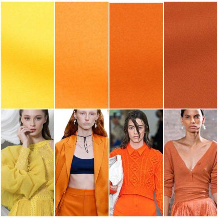 Tonos amarillos y naranja colores de moda verano 2022