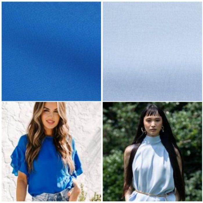 Tonos azules colores de moda verano 2022