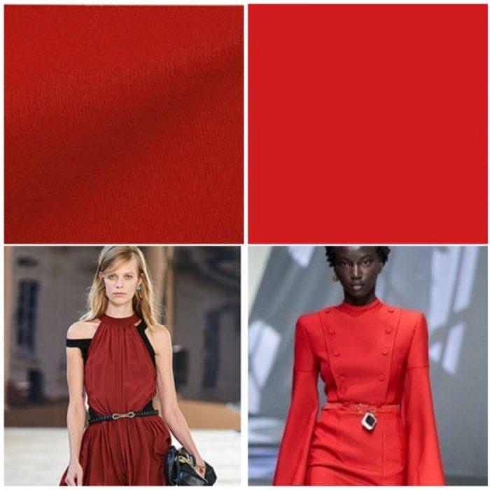Tonos rojos colores de moda verano 2022