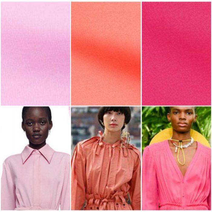 Tonos rosados colores de moda verano 2022