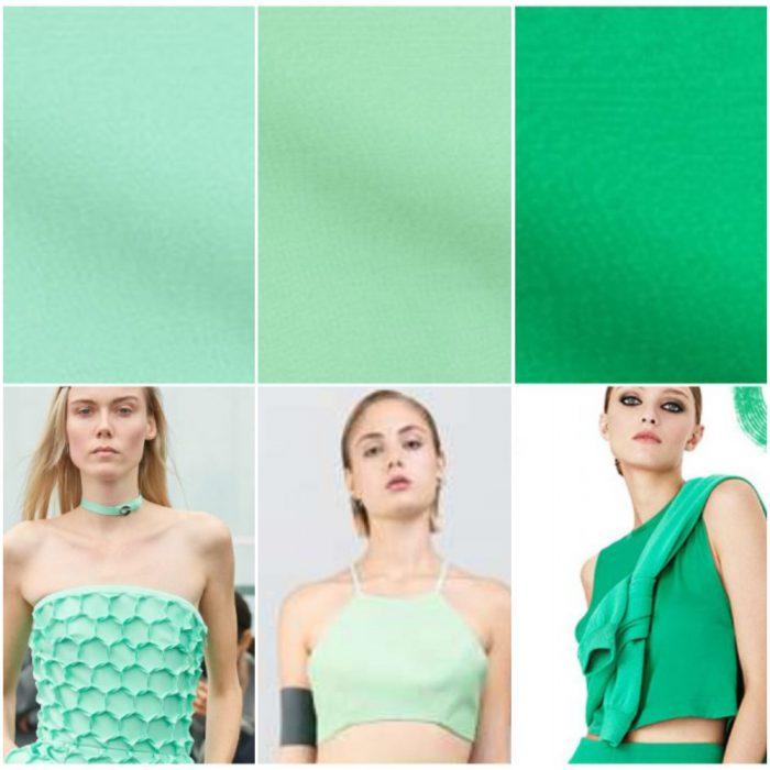 Tonos verdes colores de moda verano 2022