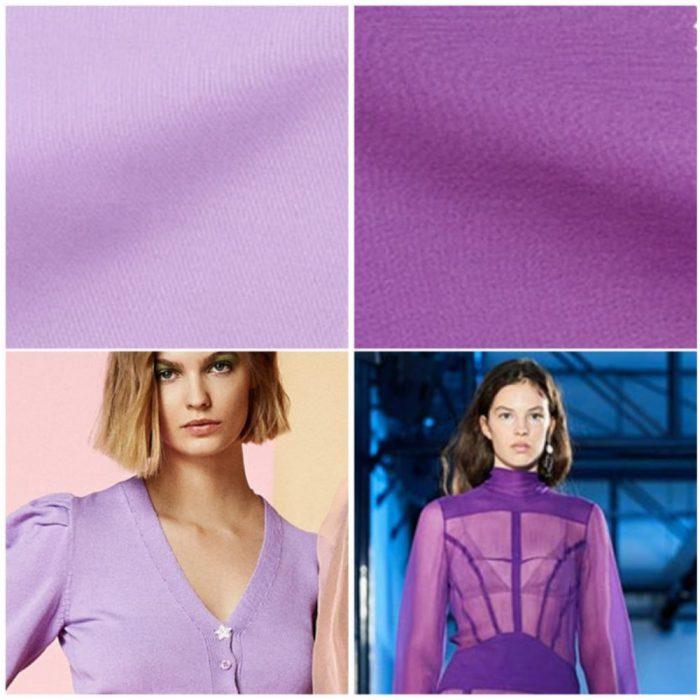 Tonos violeta y lila colores de moda verano 2022