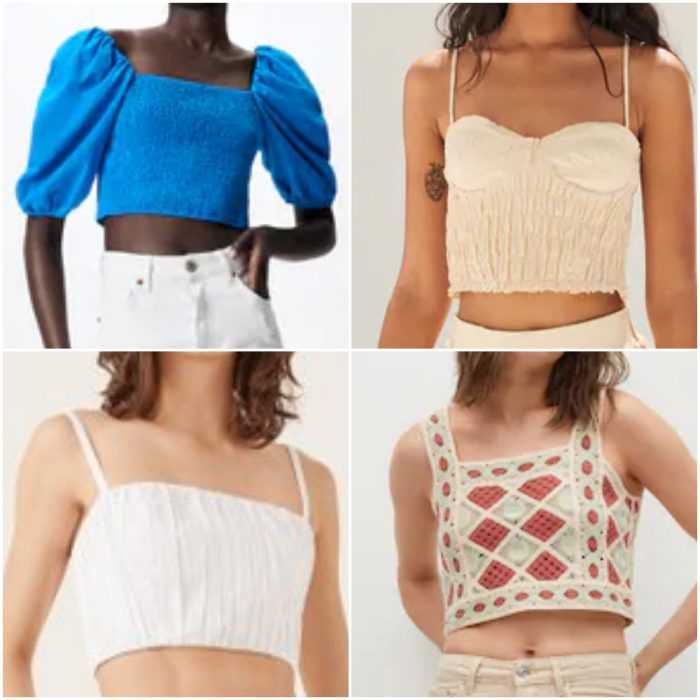 Tops y blusas de moda verano 2022 Argentina