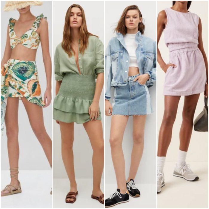 minifaldas para mujer verano 2022 Argentina