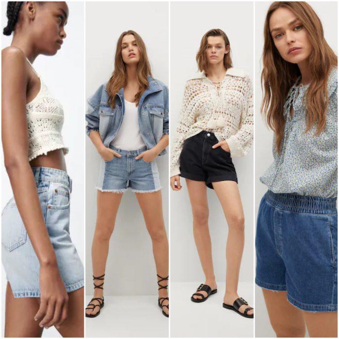 short de jeans de moda verano 2022 Argentina