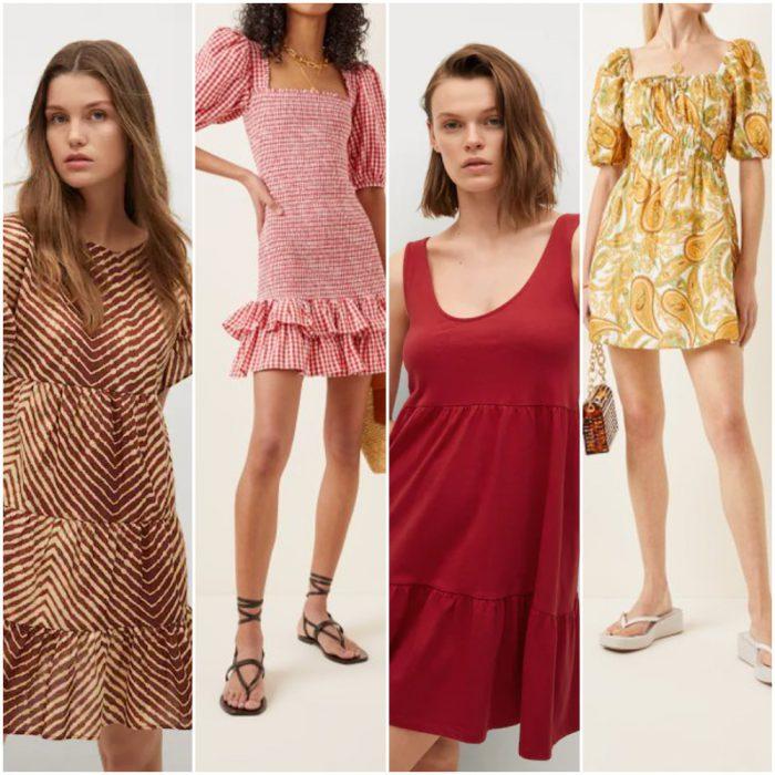 vestidos cortos casuales de moda verano 2022 Argentina