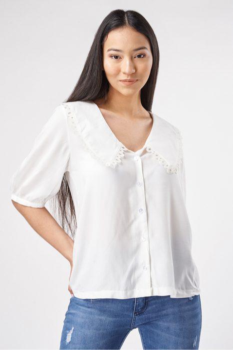 camisa con cuello mujer Sans Doute verano 2022
