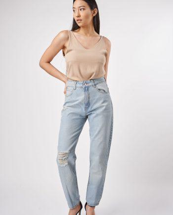 mom claro verano 2022 Vertu Jeans