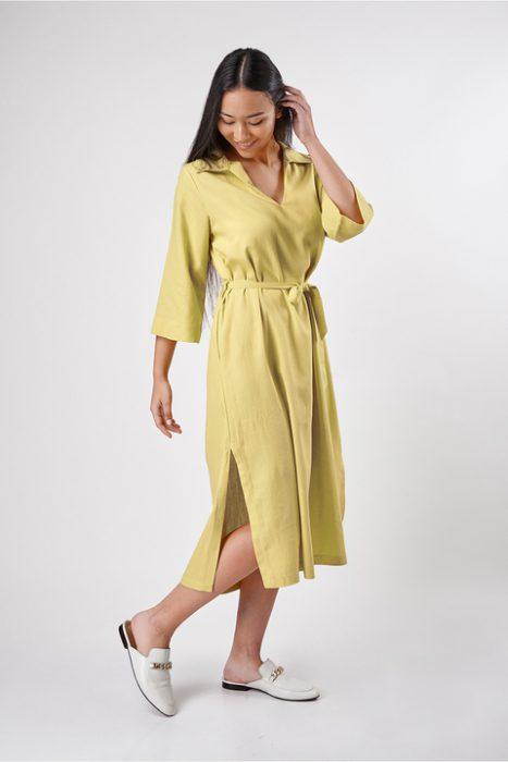 vestido cruzado Sans Doute verano 2022