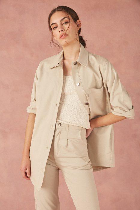 Bled Camisa utilitaria para mujer verano 2022