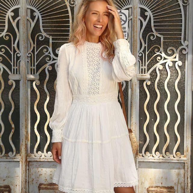 Vestido corto blanco verano 2022 Vars