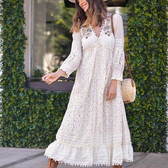 Vestido de broderie blanco verano 2022 Vars