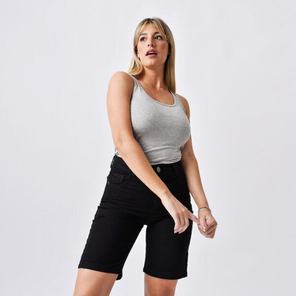 bermuda negra de jeans verano 2022 Jeans Ecole