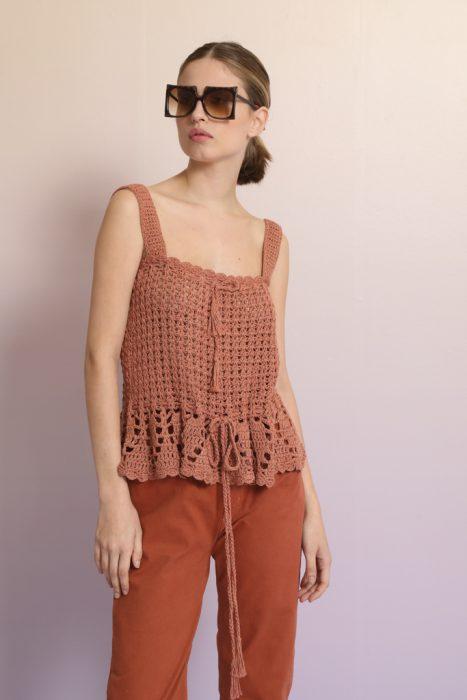 blusa crochet con pantalon verano 2022 Vero Alfie