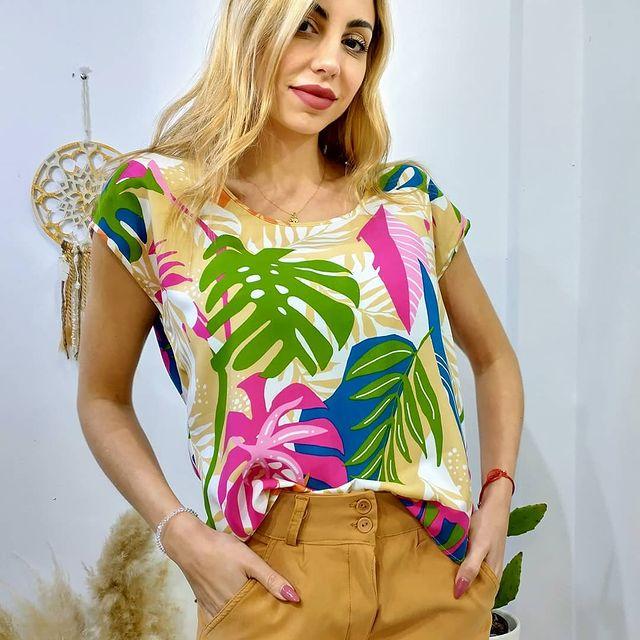 blusa estampada verano 2022 ORIX