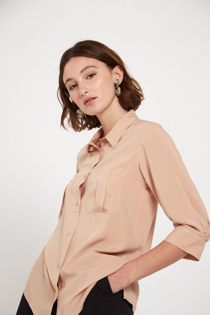 camisa beige mujer verano 2022 Ted Bodin
