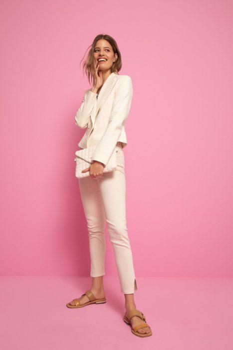 conjunto pantalon blazer gabardina Vitamina verano 2022