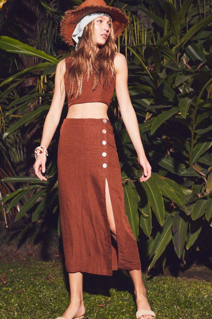 falda pareo abotonada verano 2022 DELUCCA