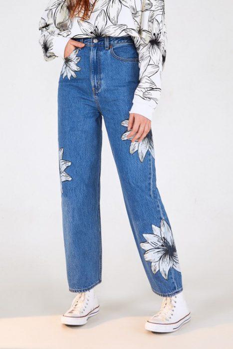 jeans recto estampado Levis mujer verano 2022