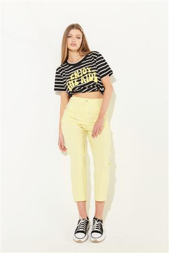 pantalon capri amarillo verano 2022 Koxis