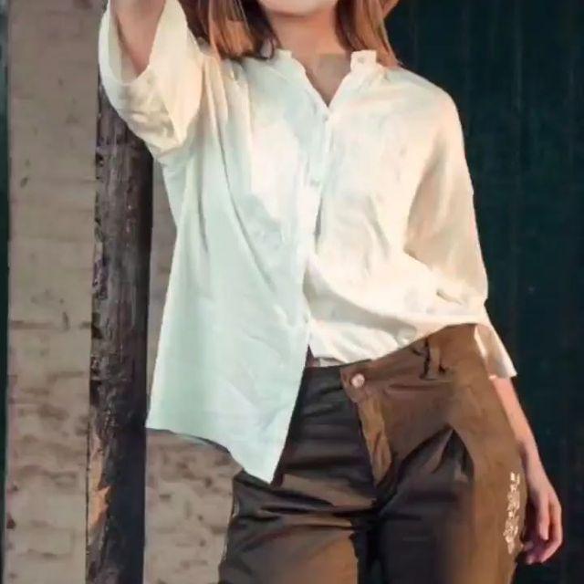 pantalon gabardina y camisa mujer las taguas verano 2022