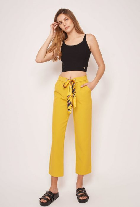 pantalon mostaza verano 2022 Abstracta Denim