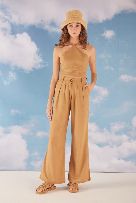 pantalones pinzados anchos verano 2022 Bled