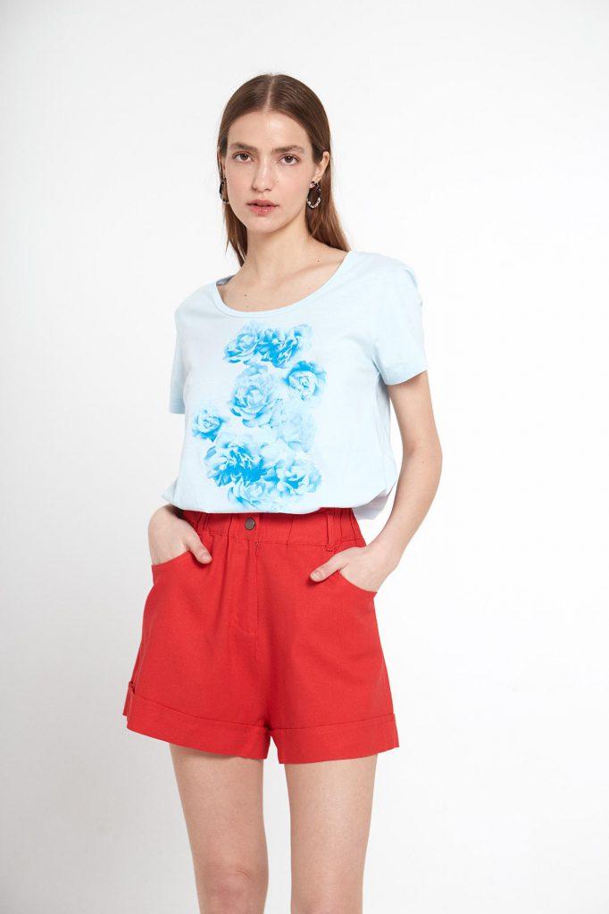 short rojo formal mujer verano 2022 Ted Bodin