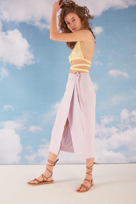 top con falda estilo pareo verano 2022 Bled