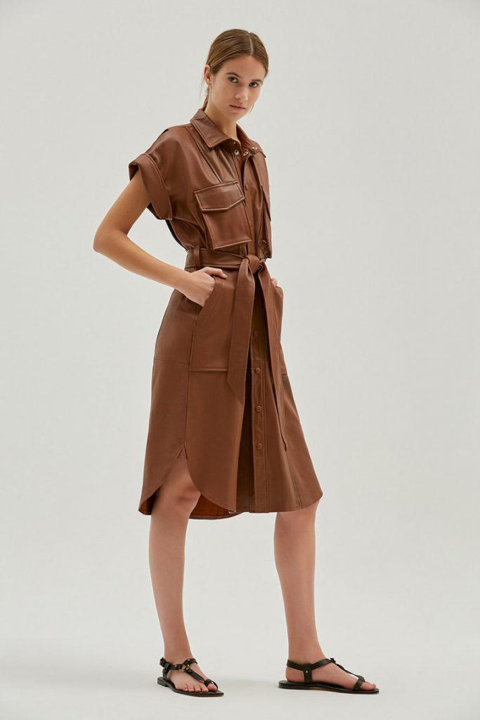 vestido camisero engomado verano 2022 by Maria Cher