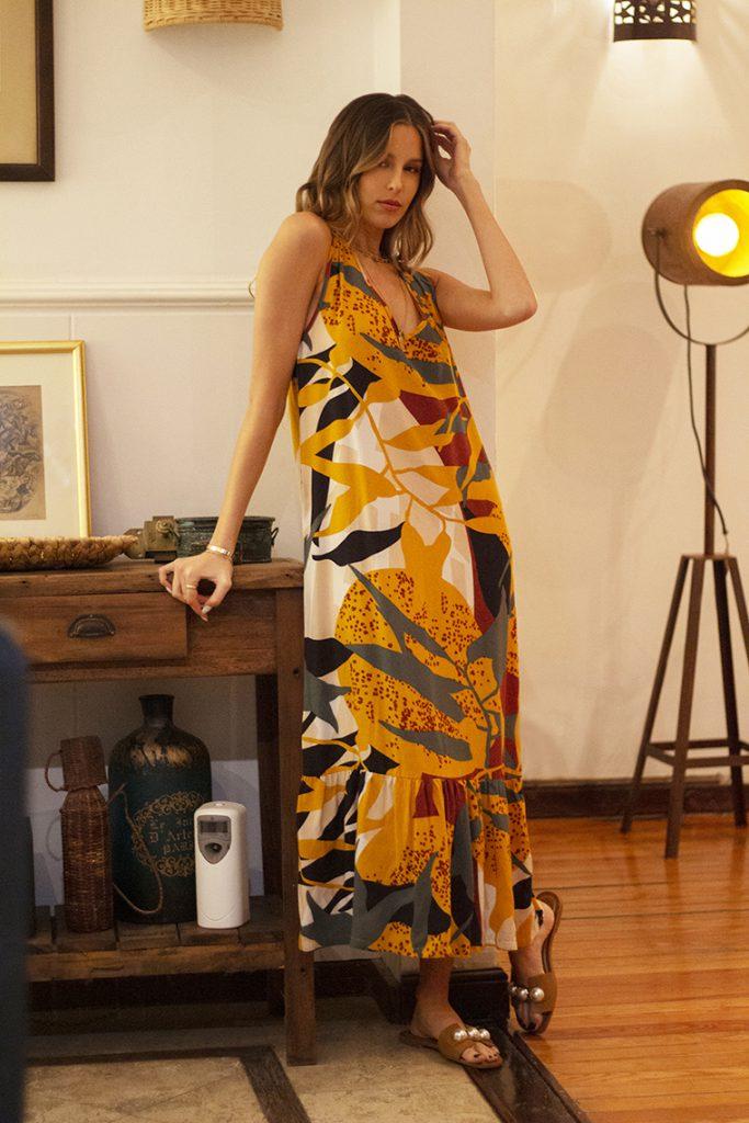 vestido largo estampado verano 2022 Nucleo Moda