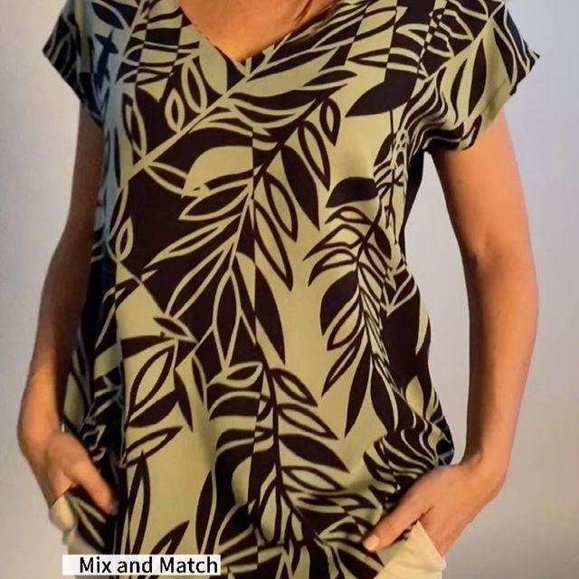 blusa estampda talles grandes verano 2022 Veramo