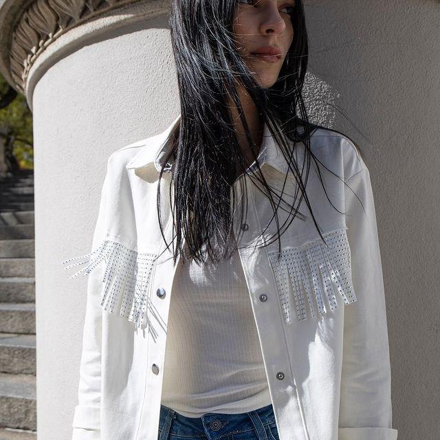 campera jeans blanca verano 2022 Bora Jeans