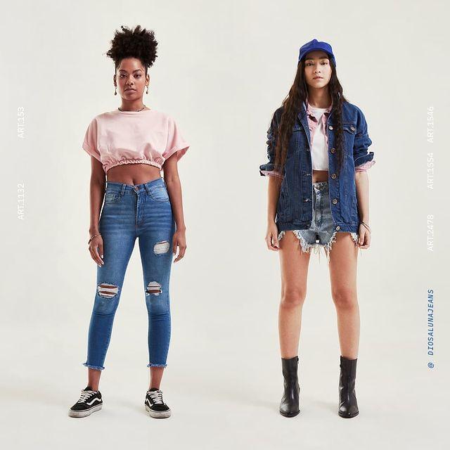 chupin o short Diosa luna jeans verano 2022