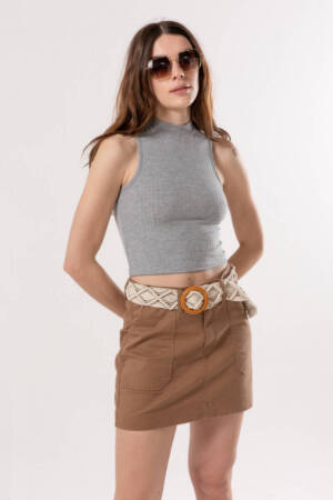 minifalda gabardina colores marca materia verano 2021