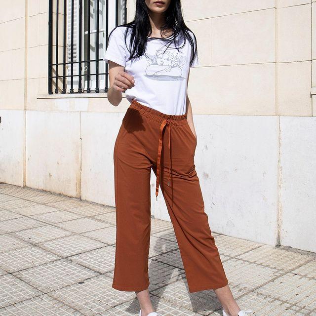 pantalo cop pantt color ladrillo verano 2022 Bora Jeans