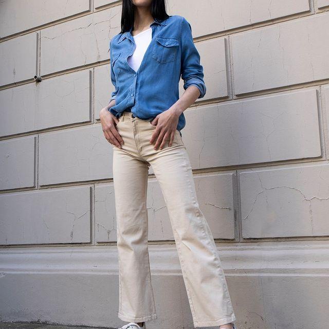 pantalon jeans crema verano 2022 Bora Jeans