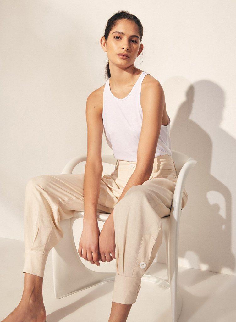 pantalones de moda mujer verano 2022 Etiqueta negra