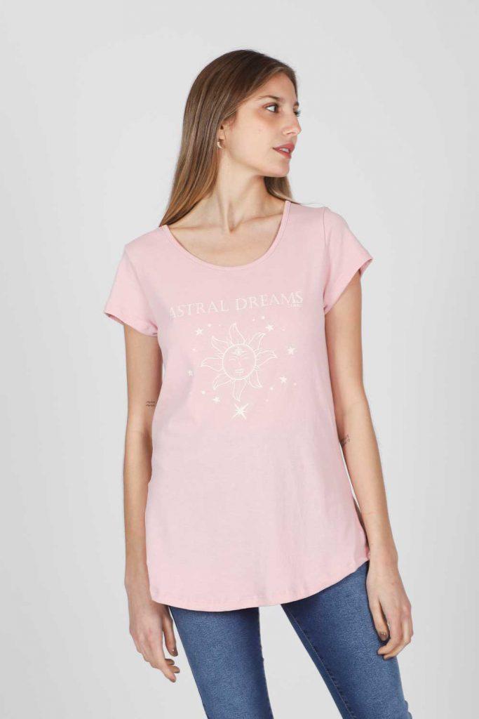 remera rosada verano 2022 Gabucci