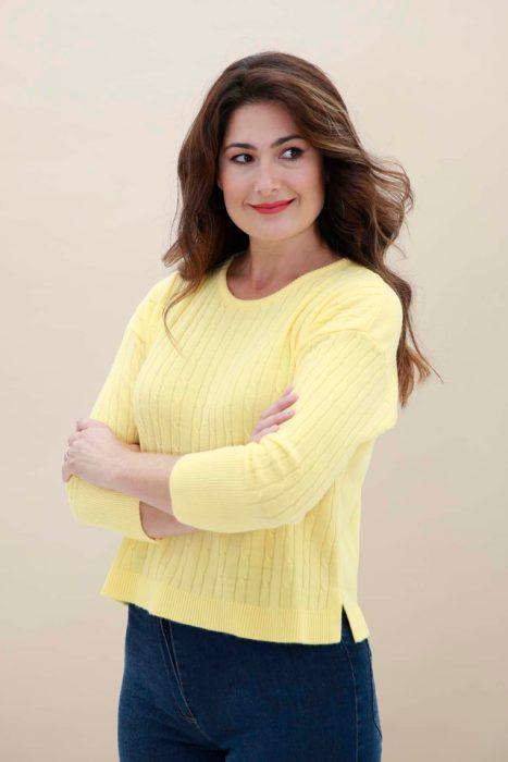 sweater amarillo tejido vanlon verano 2022