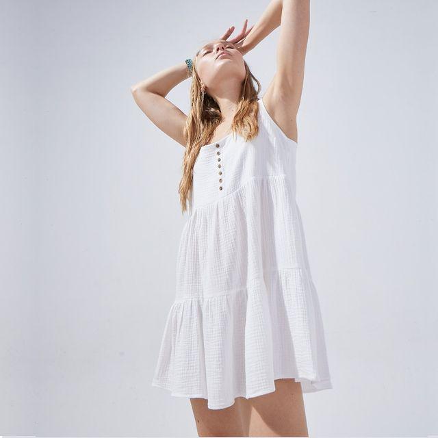 vestido casual blanco verano 2022 System