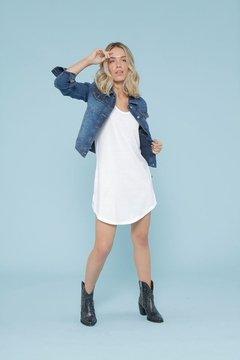 vestido con campera de jeans verano 2022 Tabatha