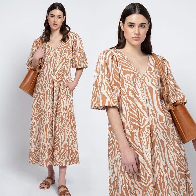 vestido estampado verano 2022 de Awada